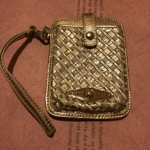 Brand new Elliot Lucca gold Cell phone wristlet